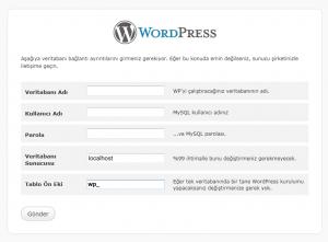 Wordpress Site Kurulumu Mysql Giriş